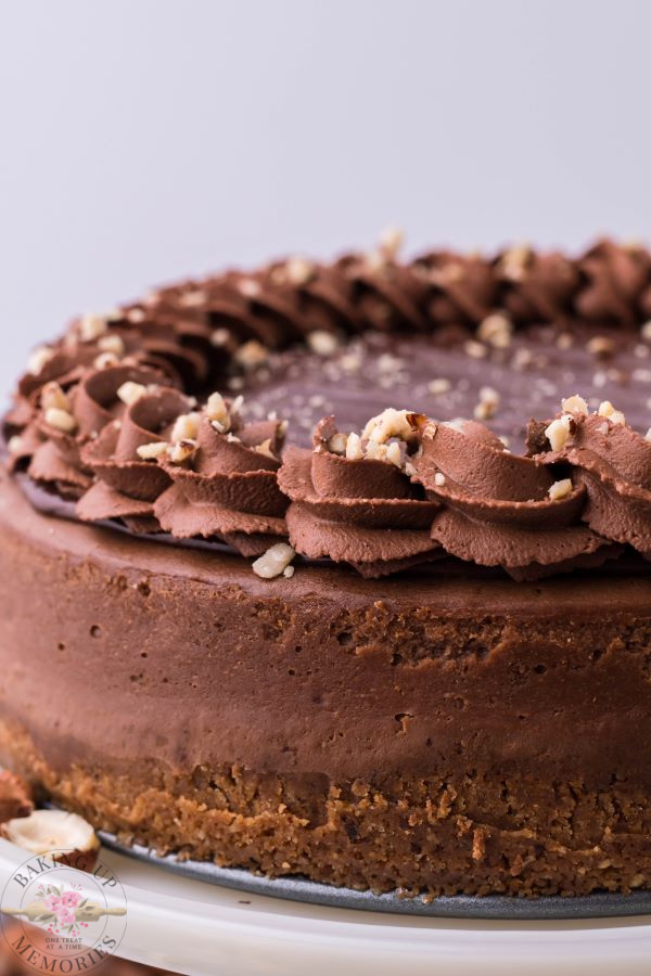 Side view of the Nutella Cheesecake