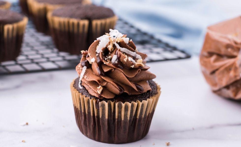 Iced German Chocolate Cupcake