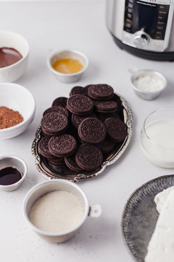 Ingredients needed to Make Instant Pot Chocolate Cheesecake